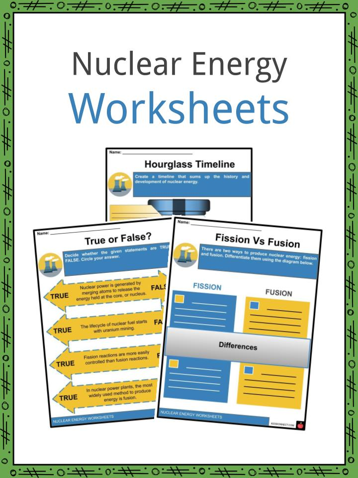 Nuclear Energy Worksheets