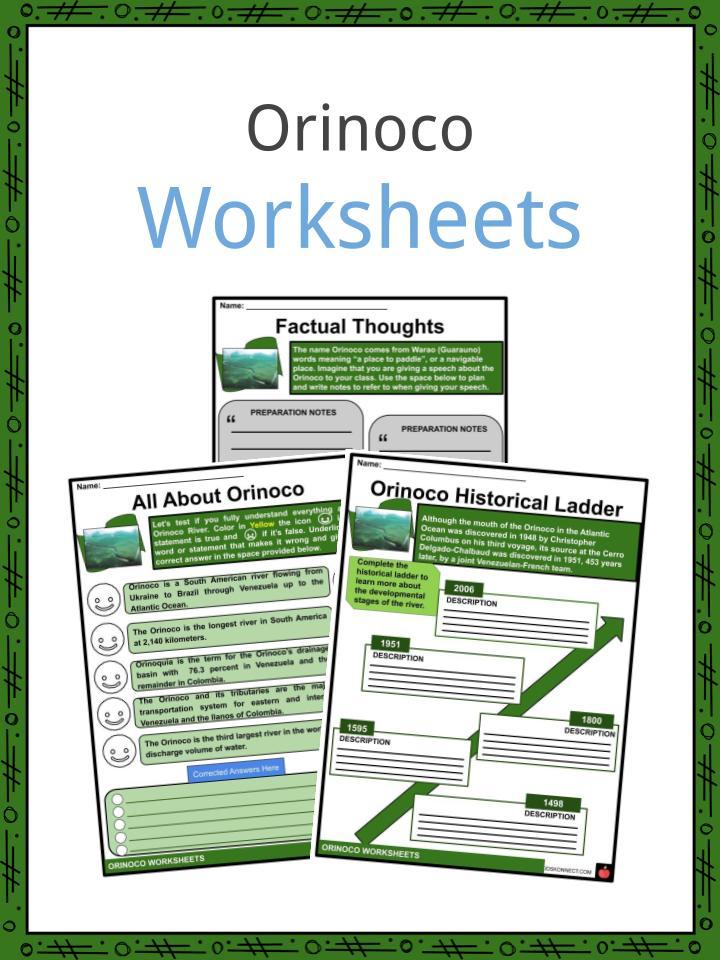 Orinoco Worksheets