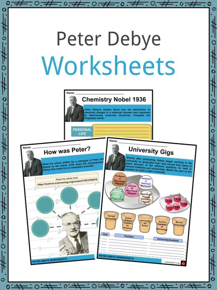 Peter Debye Worksheets