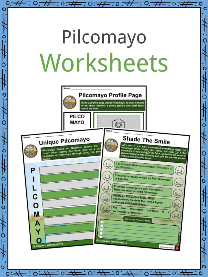 Pilcomayo Worksheets