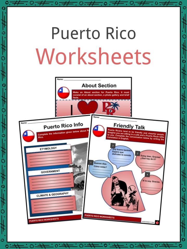 Puerto Rico Worksheets