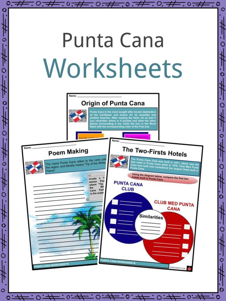 Punta Cana Worksheets