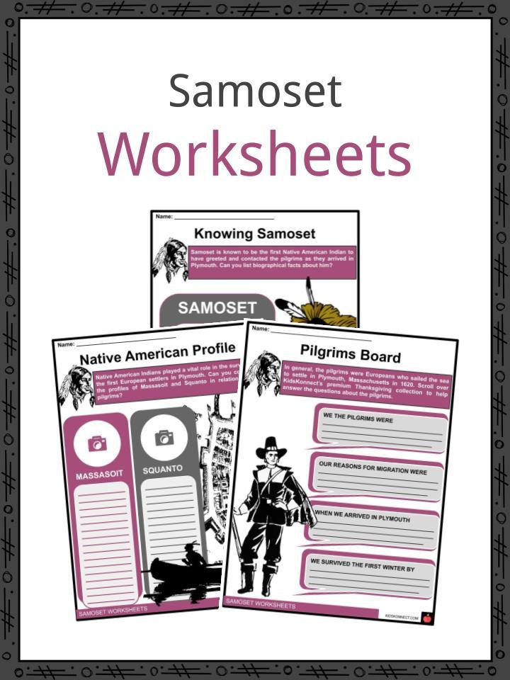 Samoset Worksheets