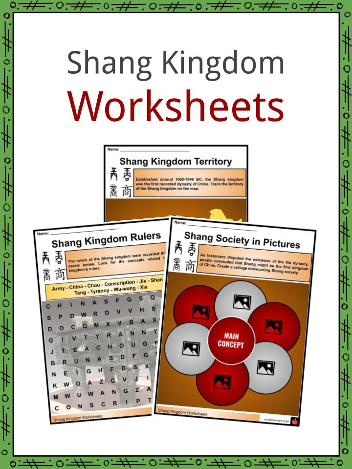 Shang Kingdom Worksheets