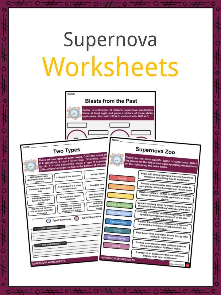 Supernova Worksheets