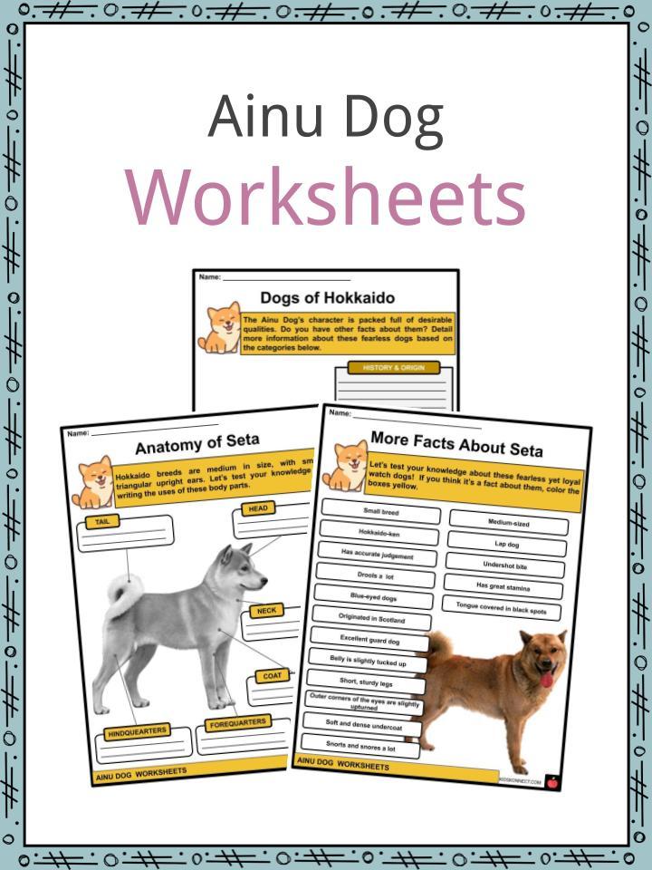 Ainu Dog Worksheets