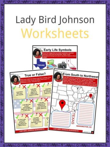 Lady Bird Johnson Worksheets