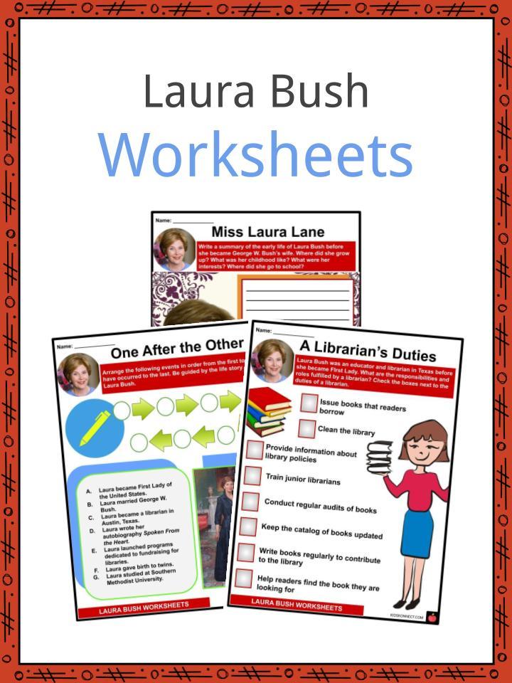 Laura Bush Worksheets