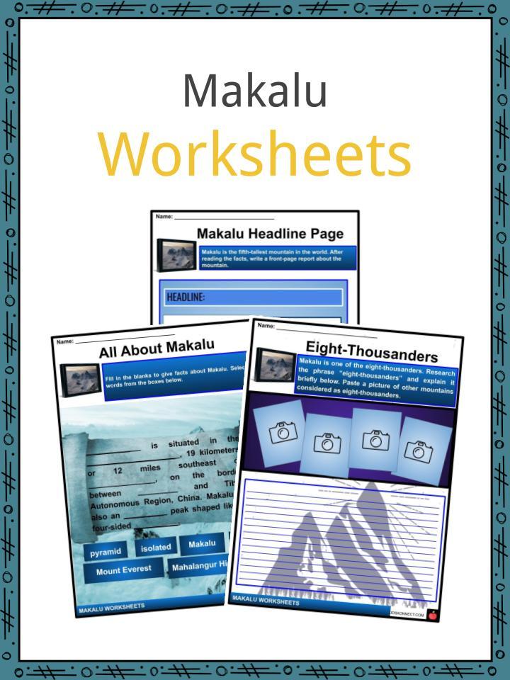 Makalu Worksheets