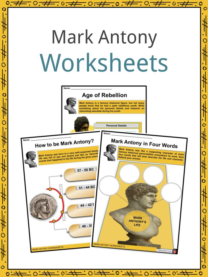 Mark Antony Worksheets