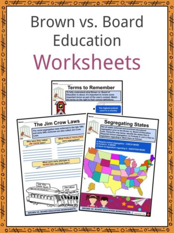 Brown vs. Board Education Worksheets