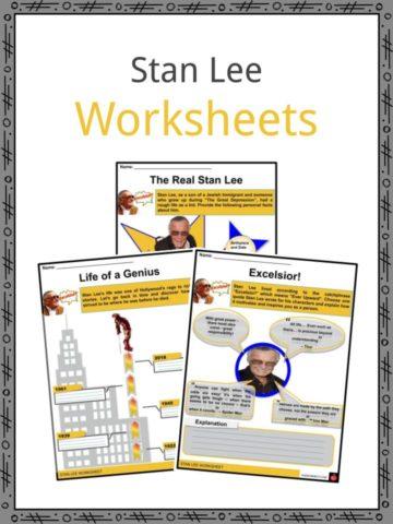 Stan Lee Worksheets