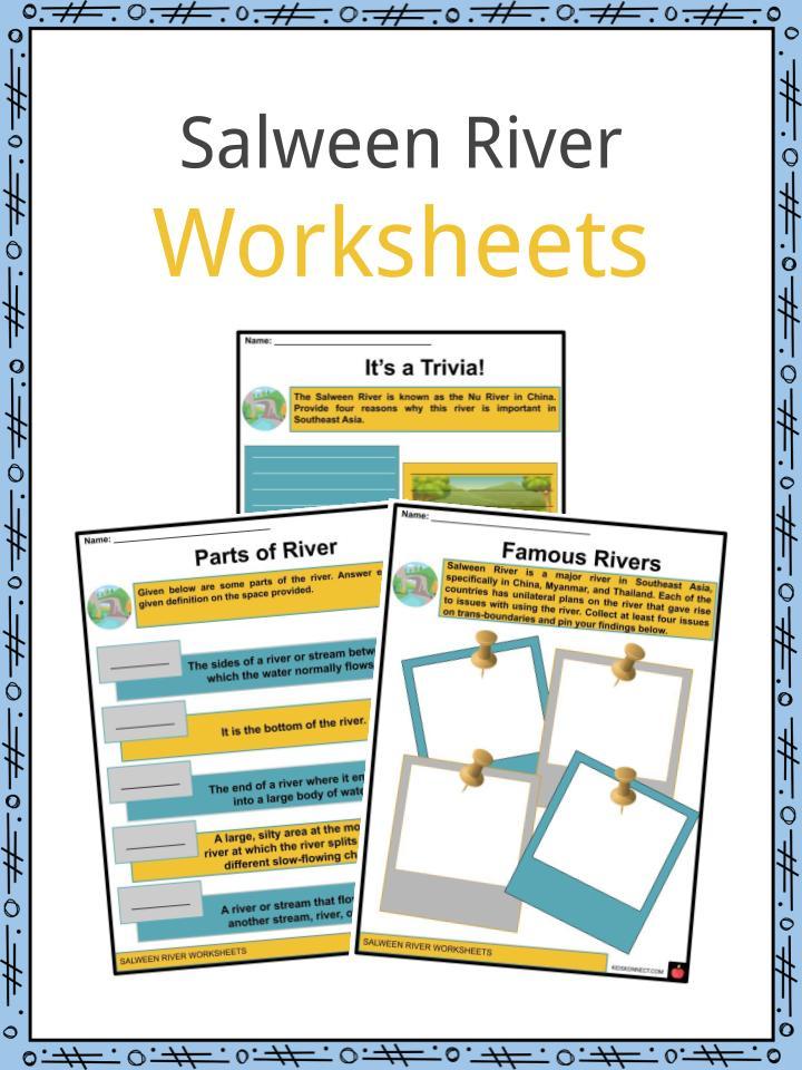 Salween River Worksheets