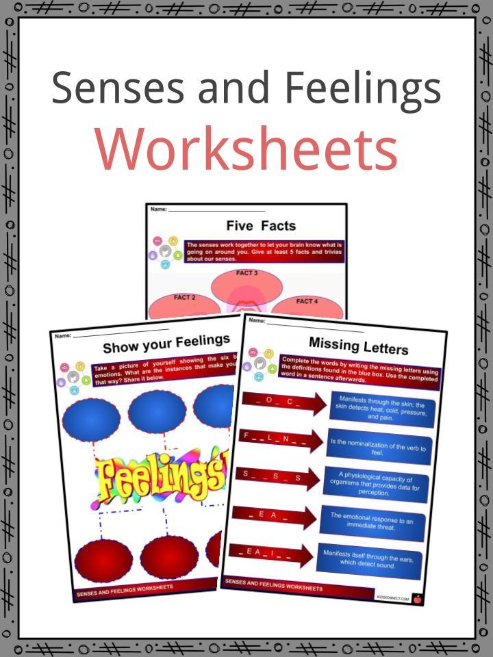 Senses and Feelings Worksheets