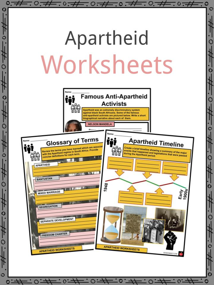 Apartheid Worksheets