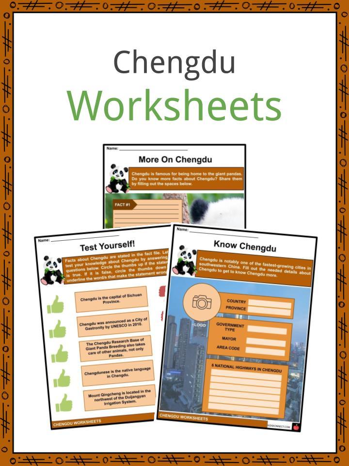 Chengdu Worksheets
