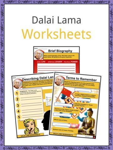 Dalai Lama Worksheets