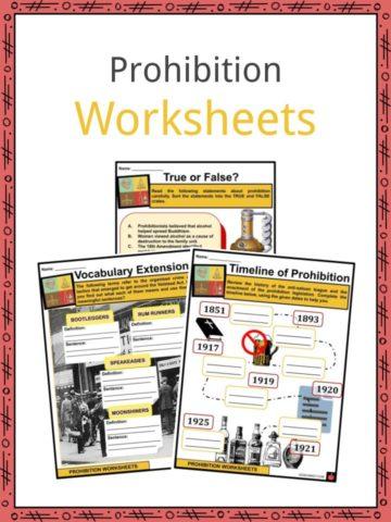 Prohibition Worksheets