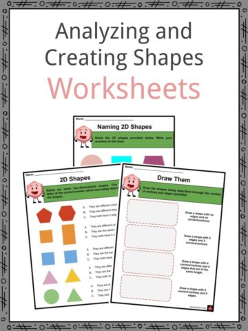 Analyzing and Creating Shapes Worksheets