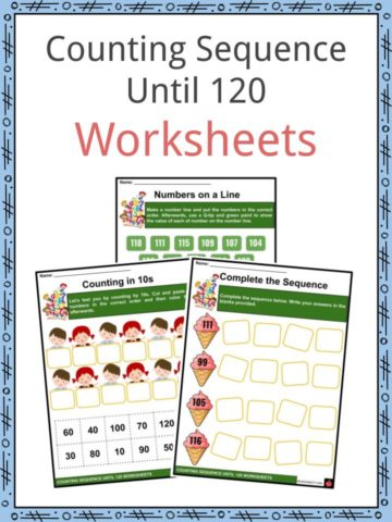 Counting Sequence Until 120 Worksheets
