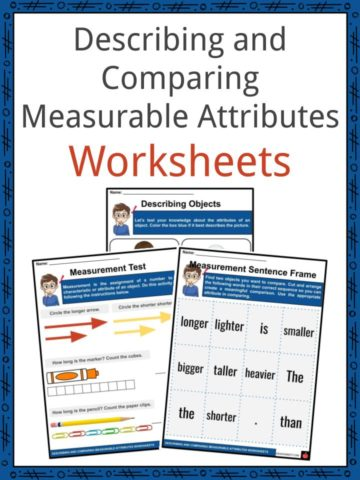 Describing and Comparing Measurable Attributes Worksheets