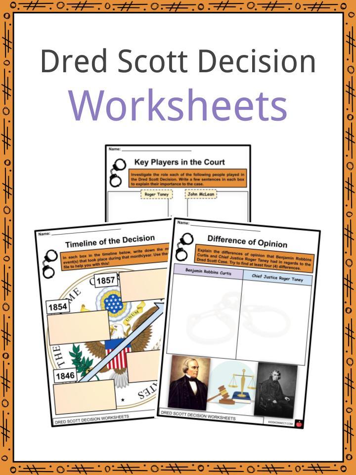 Dred Scott Decision Worksheets