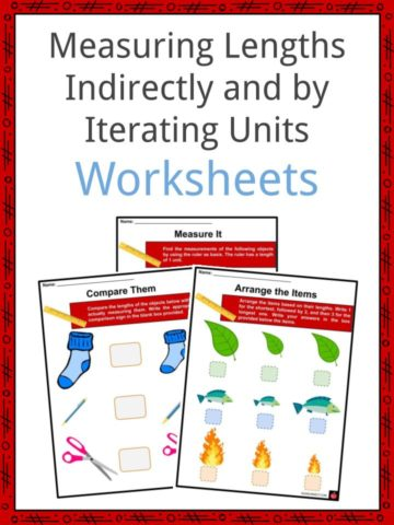 Measuring Lengths Indirectly and by Iterating Units Worksheets