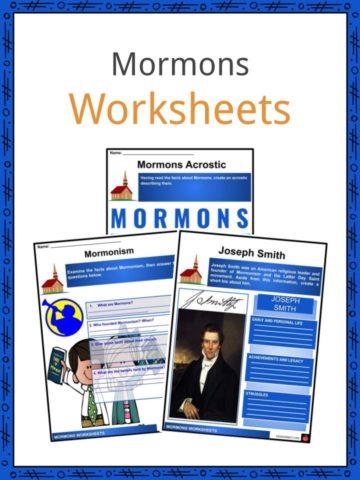 Mormons Worksheets