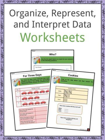 Organize, Represent, and Interpret Data Worksheets