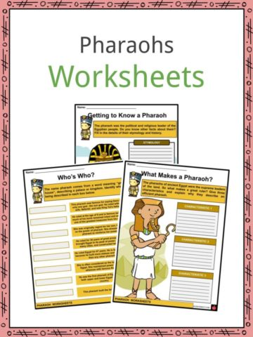 Pharaohs Worksheets