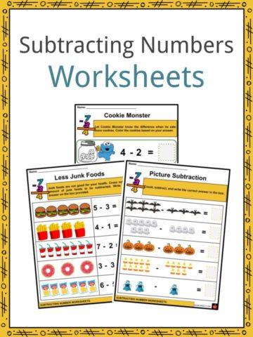 Subtracting Numbers Worksheets