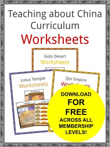 Teaching about China Curriculum Worksheets