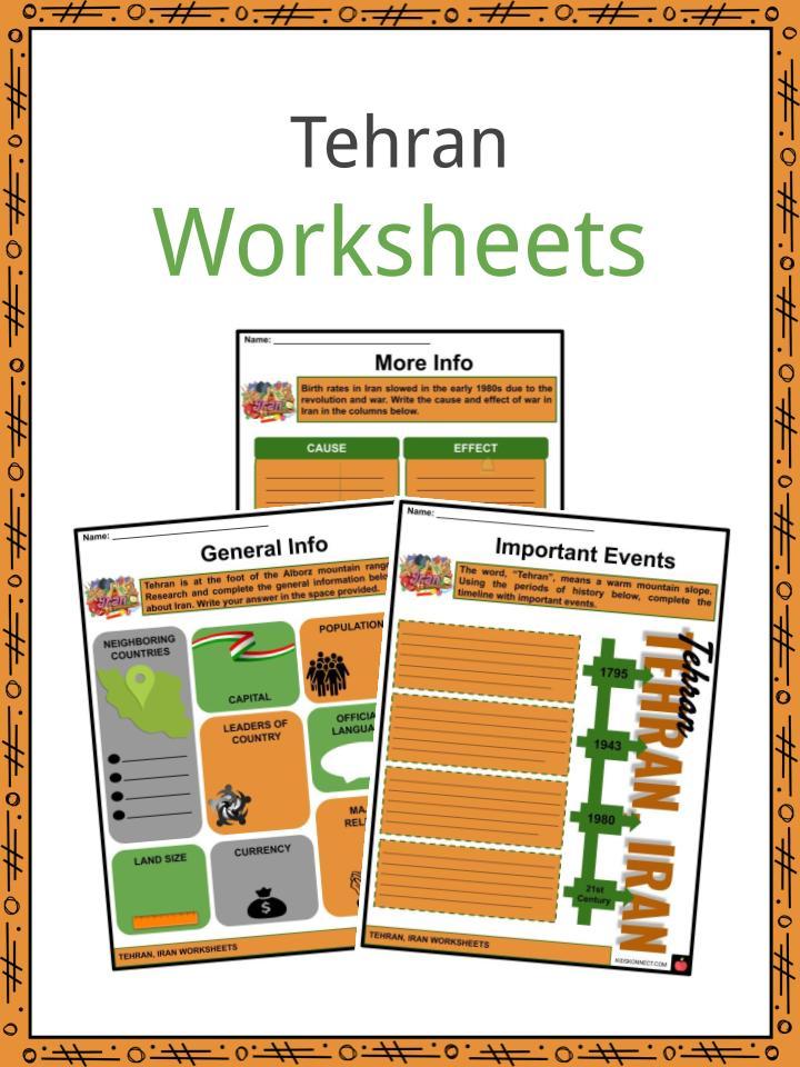Tehran Worksheets