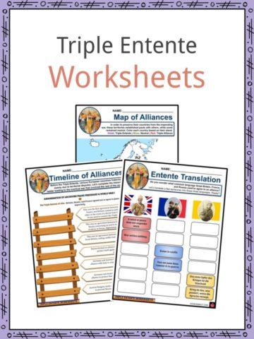 Triple Entente Worksheets