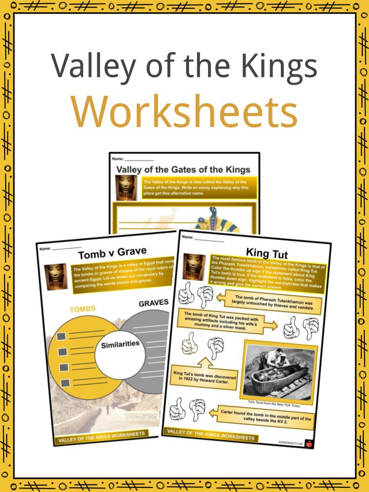 Valley of the King Worksheets