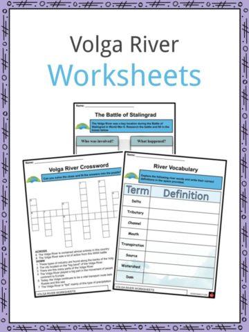 Volga River Worksheets