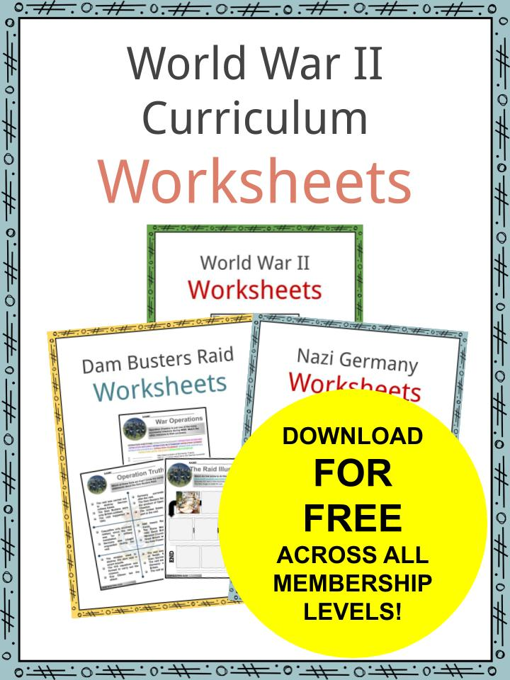 World War II Curriculum Worksheets