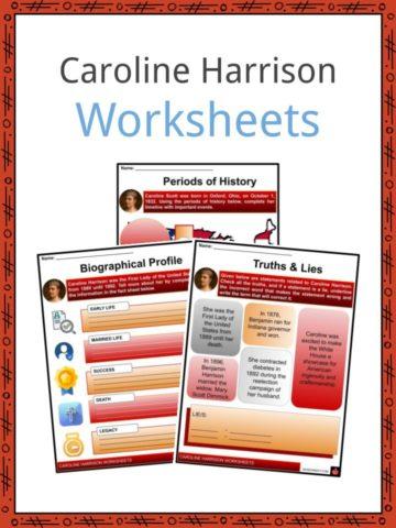 Caroline Harrison Worksheets