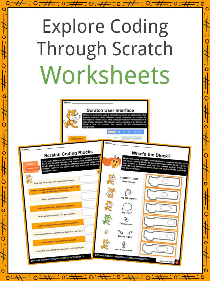 Explore Coding Through Scratch Worksheets
