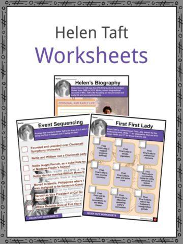 Helen Taft Worksheets