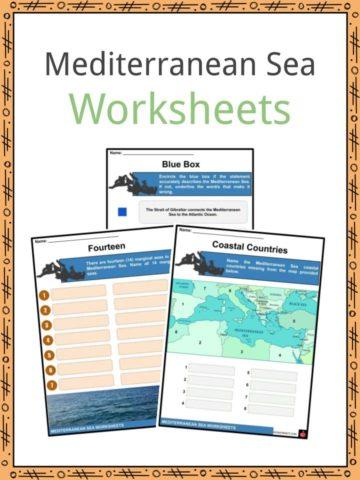 Mediterranean Sea Worksheets