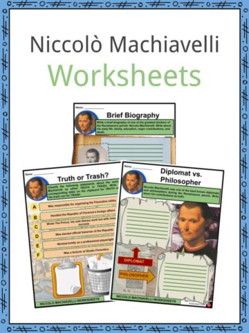 Niccolò Machiavelli Worksheets