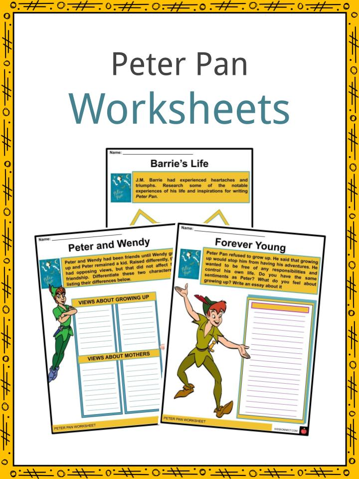 Peter Pan Facts, Worksheets & J.M. Barrie's Life For Kids