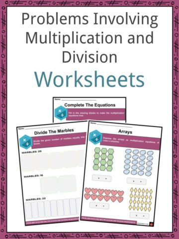Problems Involving Multiplication and Division Worksheets