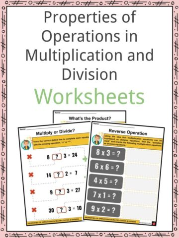 Properties of Operations in Multiplication and Division Worksheets