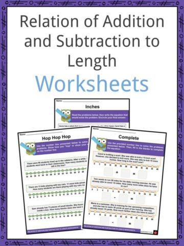 Relation of Addition and Subtraction to Length Worksheets