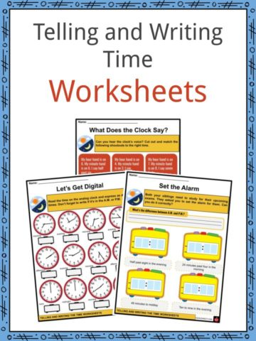 Telling and Writing Time Worksheets