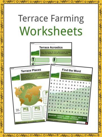Terrace Farming Worksheets