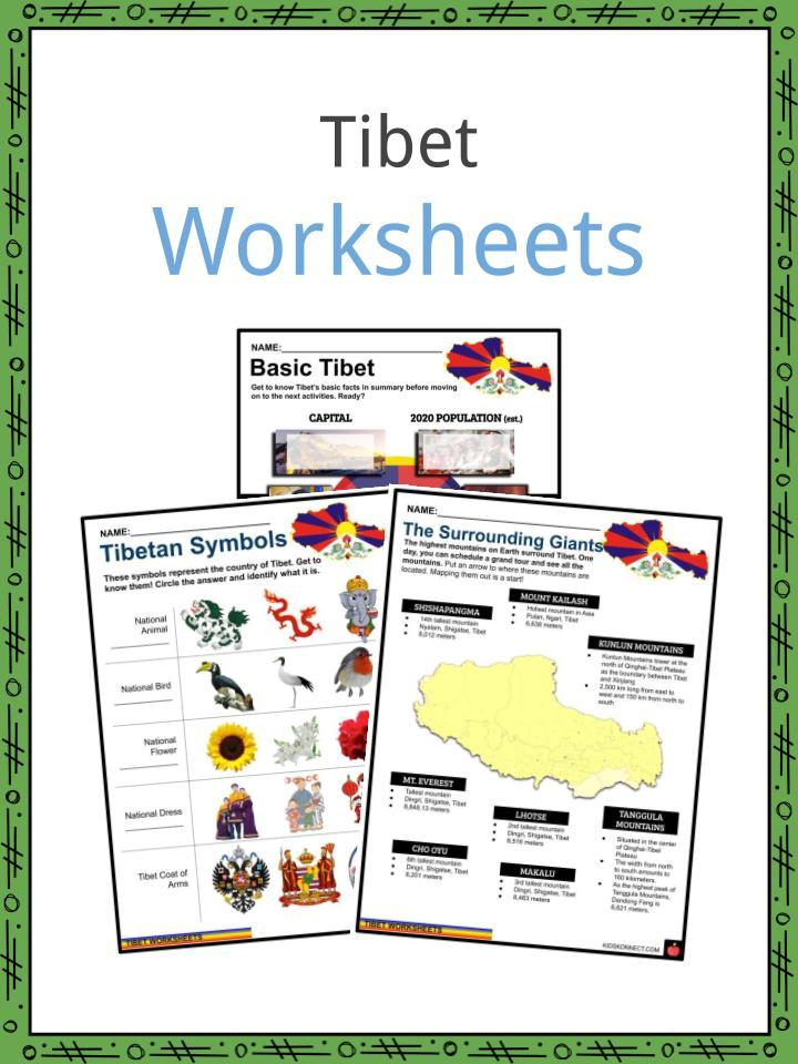 Tibet Worksheets
