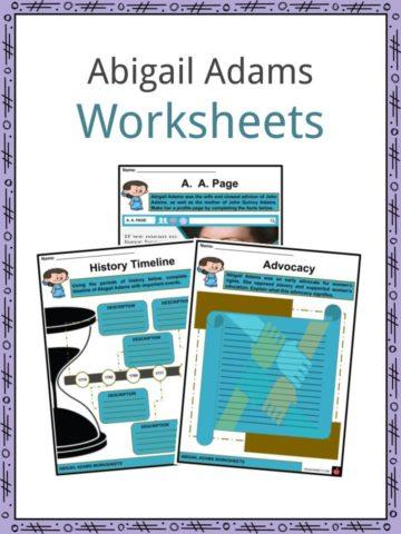 Abigail Adams Worksheets